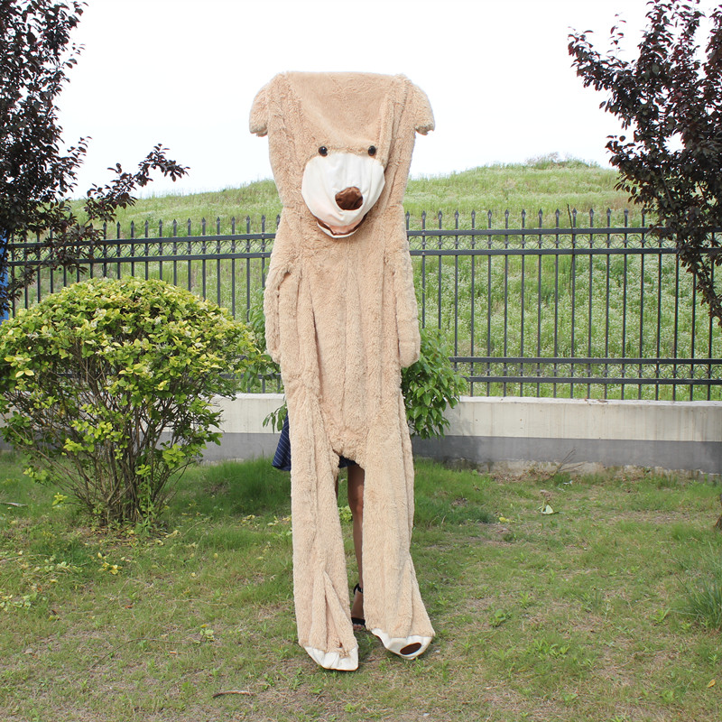 200cm Teddy Bear Skin Giant Plush Extra Large Teddy Bear Coat Soft Toy Good Quality 2018 high quality 200cm giant teddy bear