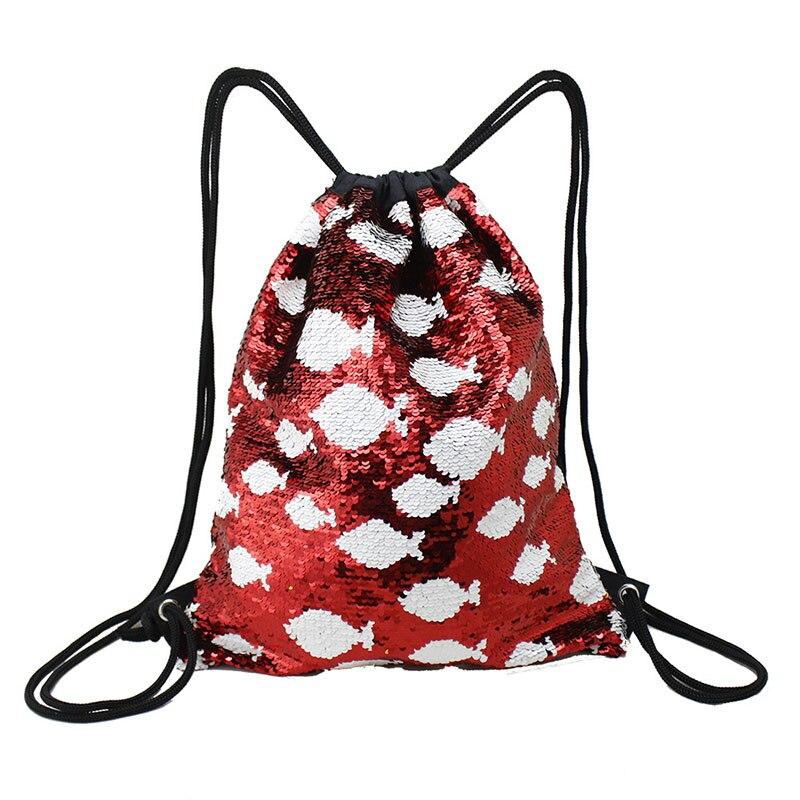 Модный женский рюкзак с блестками