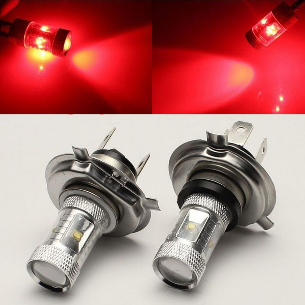 CYAN SOIL BAY 2x 30W H4 DRL Red <font><b>High</b></font> Bright 6 LED Car Fog Lamp Driving Light With 360 Degrees Beam Sourcing