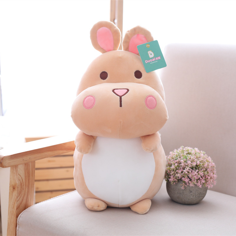 1pc 25cm Cute Hamster Plush Toy Staffed Cartoon Animal Mouse Doll Kawaii Baby Kids Appease Toy Children Girls Birthday Gift