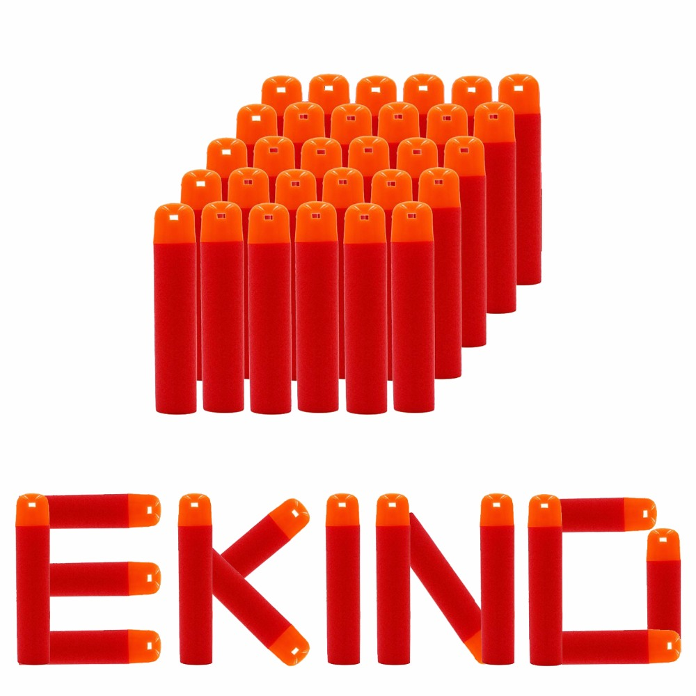 EKIND 30Pcs 9.5cm Soft Whistle Head Foam Darts Refill For Nerf N-Strike Elite Mega Centurion Toy Gun Bullet