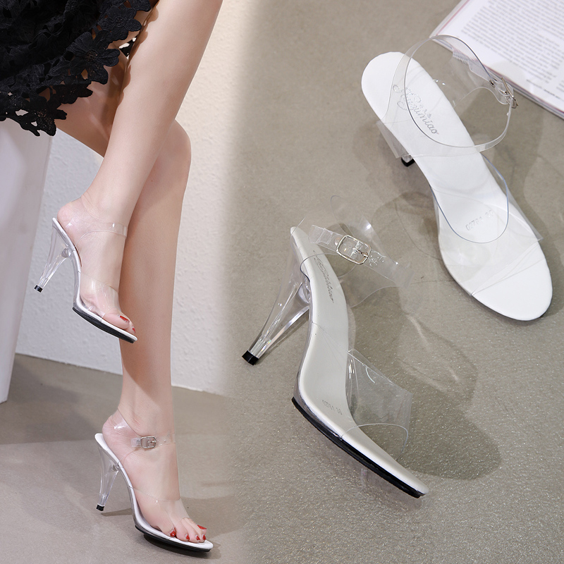 Summer Shoes Women Sandals 2019 New Sexy Club Fish Mouth High-heeled 10CM Female Shoes Crystal Transparent Buckle Strap Sandals Summer Shoes Women Sandals 2019 New Sexy Club Fish Mouth High-heeled 10CM Female Shoes Crystal Transparent Buckle Strap Sandals