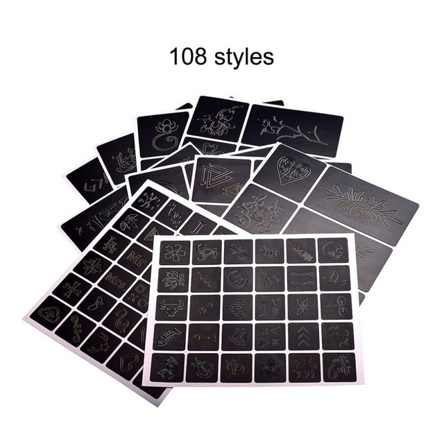 108 patterns design tattoo stencil album professional and reusable
