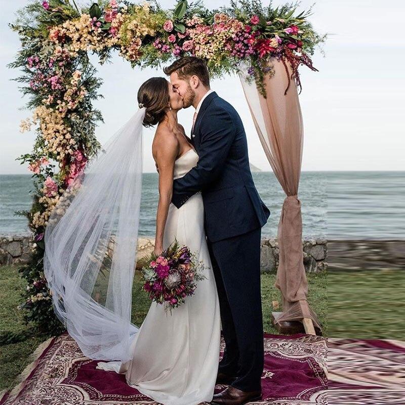 Sheath Simple Soft Satin Wedding Dresses 2019 Diamonds Beaded Sashes Women Wedding Gowns Sweetheart Bridal Dresses