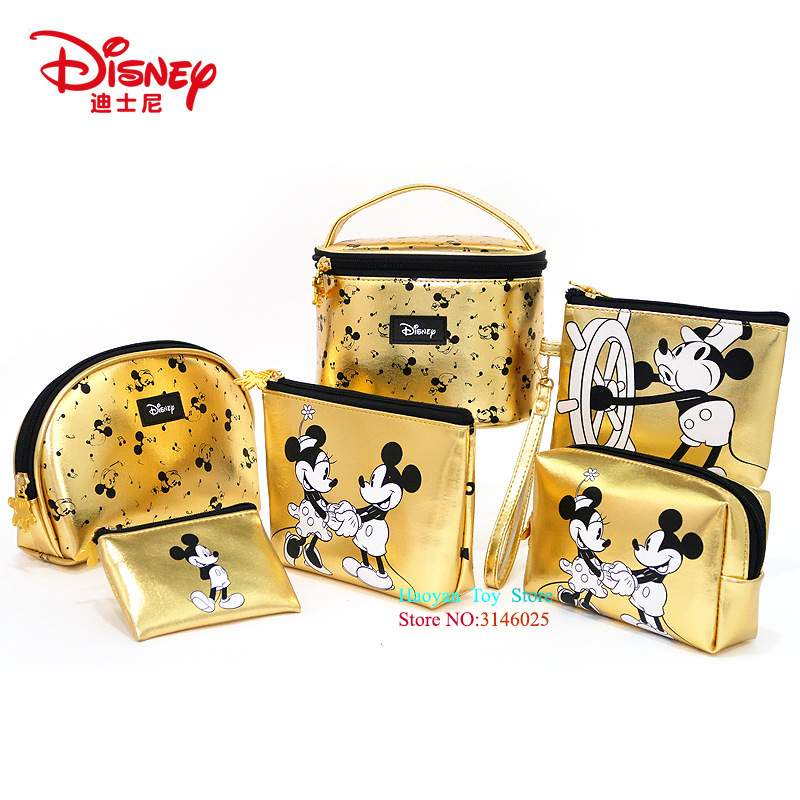 Genuine Disney Mickey Mouse Multi-function Women Bag Wallet Purse Baby Care Bag Fashion Mummy Bag Girls Gift Disney Hot Sale Set