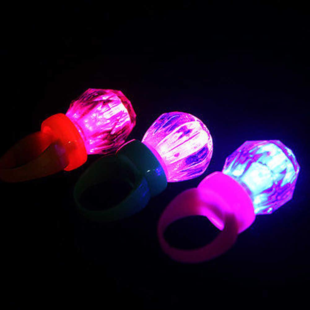Zhefanku 1 قطع الصمام البلاستيك تضيء الدائري ل حفل زفاف عيد إمدادات مضيئة توهج حلقة لون عشوائي