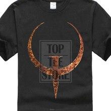 Quake 1 Logo Game T Shirt Black White Sizes From S To 5Xl