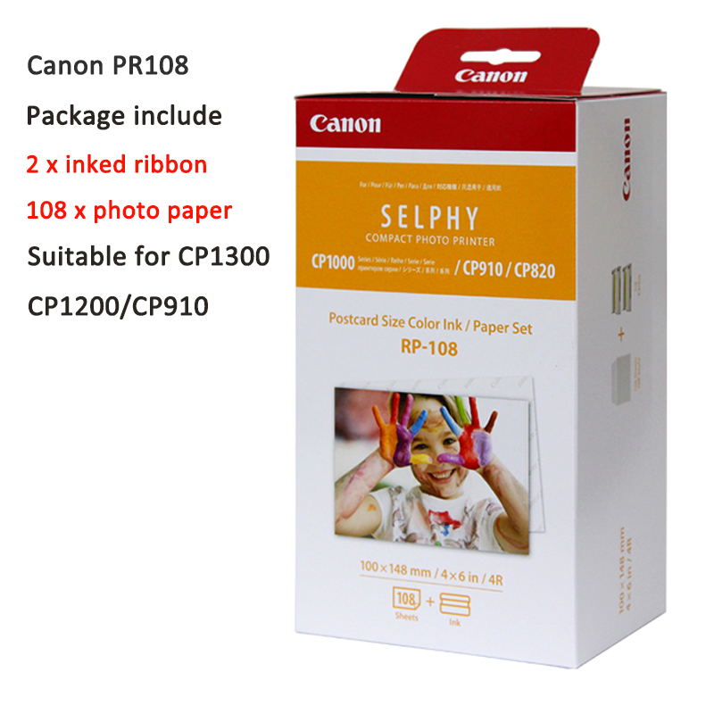 Photo Paper for Canon RP108 KP108in KL36 KC36ip CP1300 CP1200 Ink Cartridge 3 Inch 6 Inch 5 Inch Photo Papers Трубопроводный кран