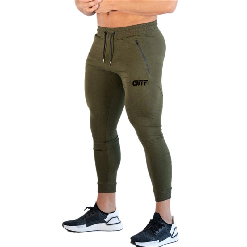 2019 Autumn Winter Side Pocket Gym Men Joggers Casual Men Sweatpants Joggers Trousers Sporting Clothing Bodybuilding Pants