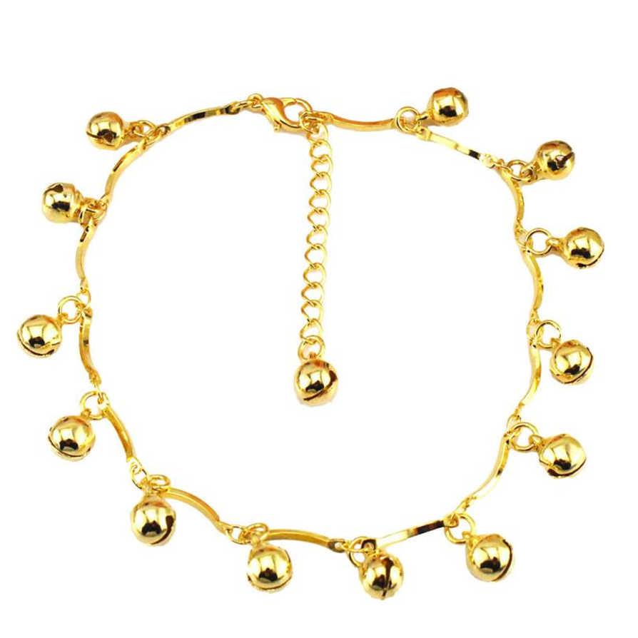 Gussy Life hurtownia Bells kobiety bransoletka kostki boso sandał plaża Foot biżuteria Jan11