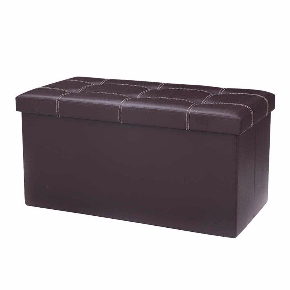 Lujo Grande De Cuero Negro Muebles Otomana Motivo - Muebles Para ...