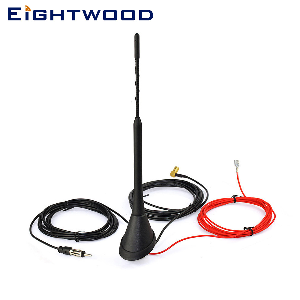Eightwood Amplified DAB/DAB+ car radios aerial roof mount antenna for Alpine Kenwood Sony DAB Radio eightwood car roof top shark fin amplified antenna for gps navigation system dab digital radio car stereo fm am radio combined