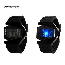Fashion Digital Silicone Led Watch Sport Alarm Clock Luminous Unisex Men