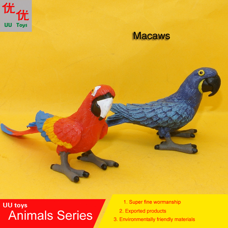 Hot toys: two color Macaw Bird Simulation model Animals kids toys children Action Figures Action Figures Collections dibang 32pcs set 2 5cm mini simulation vinyl animals model set action figures fences trees toys children classic toys for kids