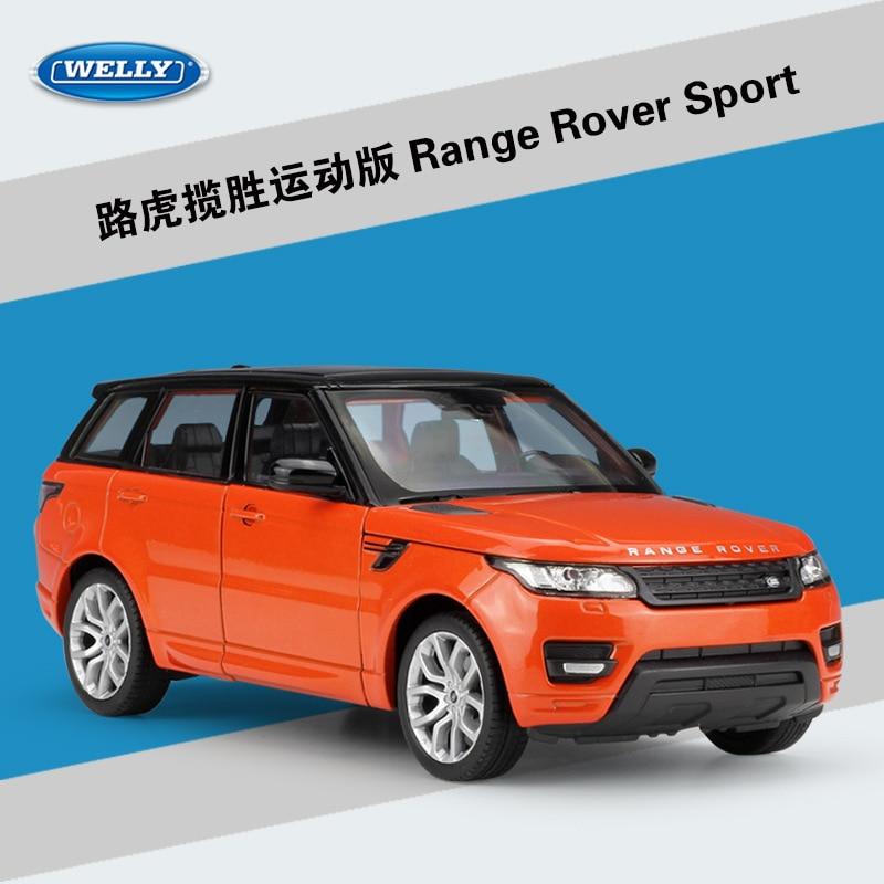 WELLY 1:24 Simulator i Lartë Metal Aurora Land Range Rover Sport SUV - Makina lodër për fëmije - Foto 5