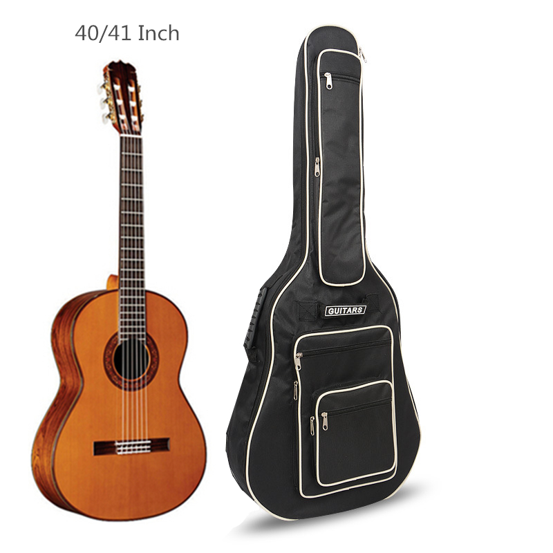 40 / 41 Inch Guitar Bag 8mm Pad Cotton Thickening Guitar Backpack Soft Case with Double Straps 12mm waterproof soprano concert ukulele bag case backpack 23 24 26 inch ukelele beige mini guitar accessories gig pu leather
