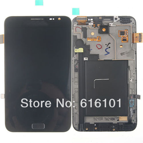 LCD Display Front Glass Touch Screen Digitizer Assembly Frame Bezel For Samsung Galaxy Note I9220 N7000 Free Shipping