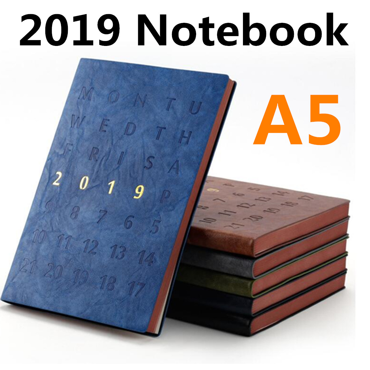 2019 A5 Note book Planner Organizer for Daily Monthly Planner A5 Leather Notebook Thicken School Planner Notepad Brown Paper2019 A5 Note book Planner Organizer for Daily Monthly Planner A5 Leather Notebook Thicken School Planner Notepad Brown Paper