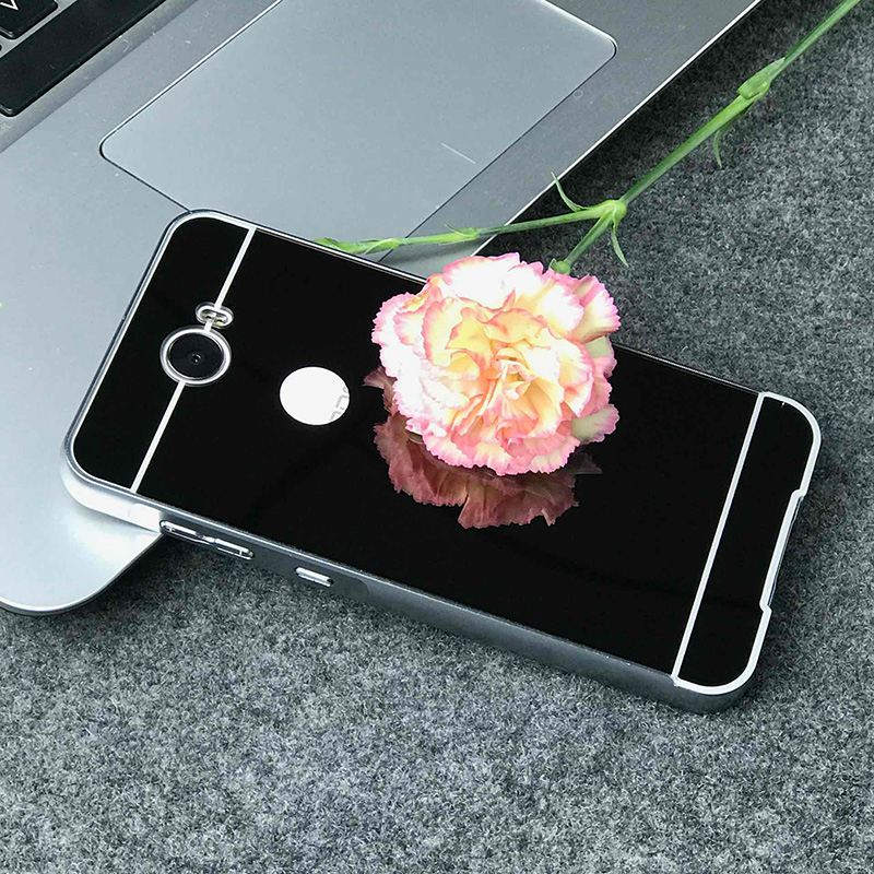 Luxury Mirror Cases For Huawei Y5 2 Y5II (5.0 inch) Metal Aluminum Frame + Acrylic Back Cover For Huawei Y5 2/ Y5 II Coque
