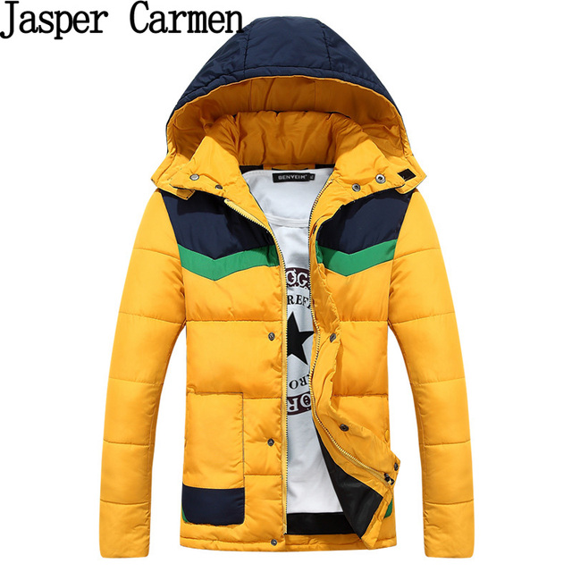 Free shipping 2017 new arrival Winter Jackets And Coats Fashion cotton wadded coat for men Hooded Casual Down Jacket 95yw