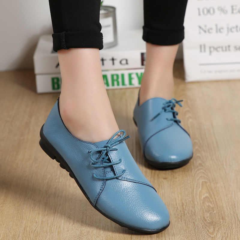 2019 г., Новое поступление, обувь женская обувь, балетки на плоской подошве без шнуровки, лоферы из натуральной кожи, модные Мокасины sapato feminino