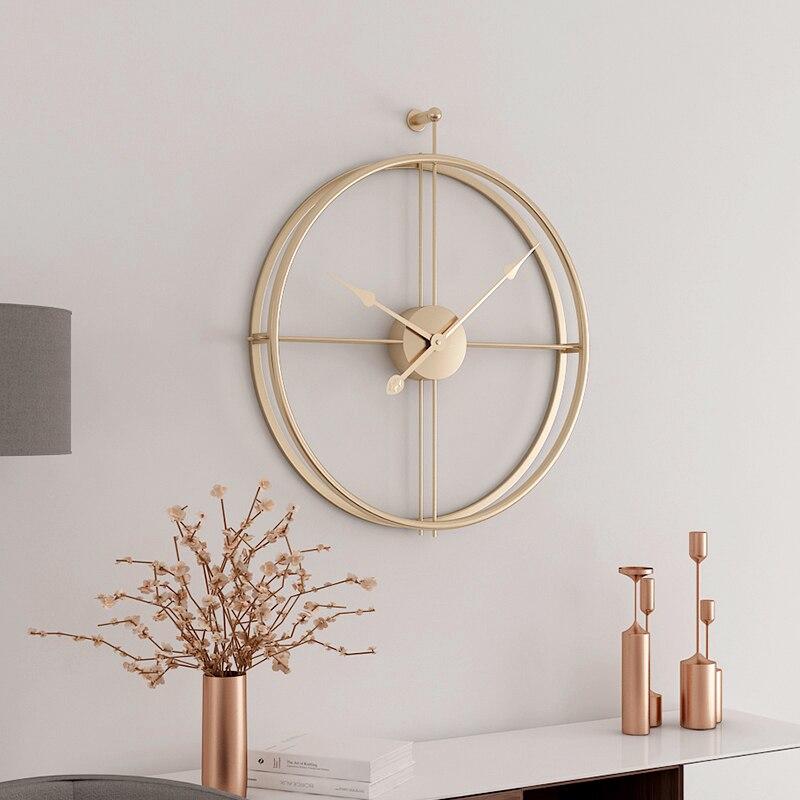55cm grande horloge murale silencieuse horloges de conception moderne pour la décoration de la maison bureau Style européen suspendus horloges de montre murale