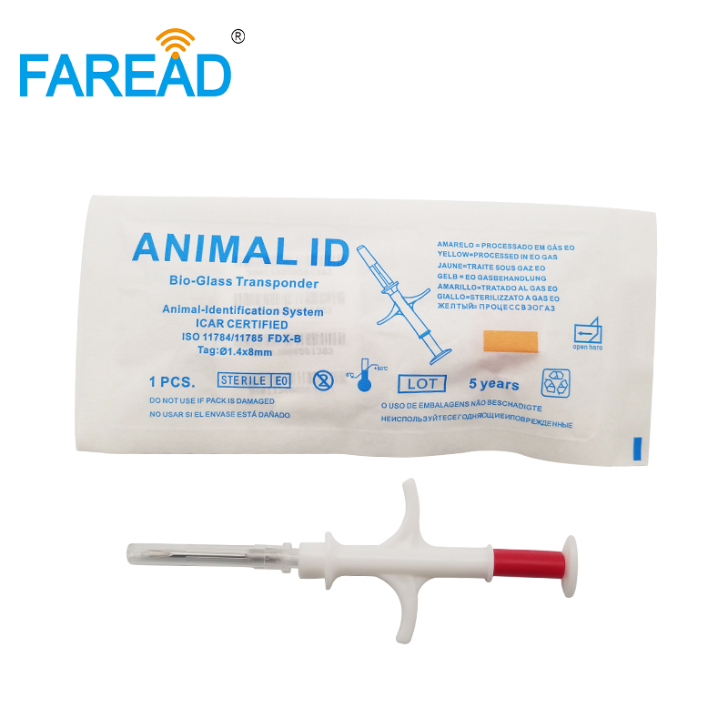 X10pcs Re-writeable 1.4x10mm Rfid Glass Tag Small Animal RFID Microchip Syringe For Flagging Fish Tracking Identification ICAR