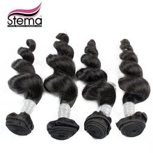 FREE SHIPPING Indian Virgin Hair Loose Wave 4pcs/lot Cheap Human Hair 100g bundles Rosa Top Hair Extension STEMA Hair Products