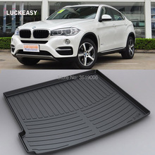 LUCKEASY For BMW X6 11-18 Non-Slip Waterproof 3D TPO Trunk Boot Cargo Mat Recycled Durable Car-styling