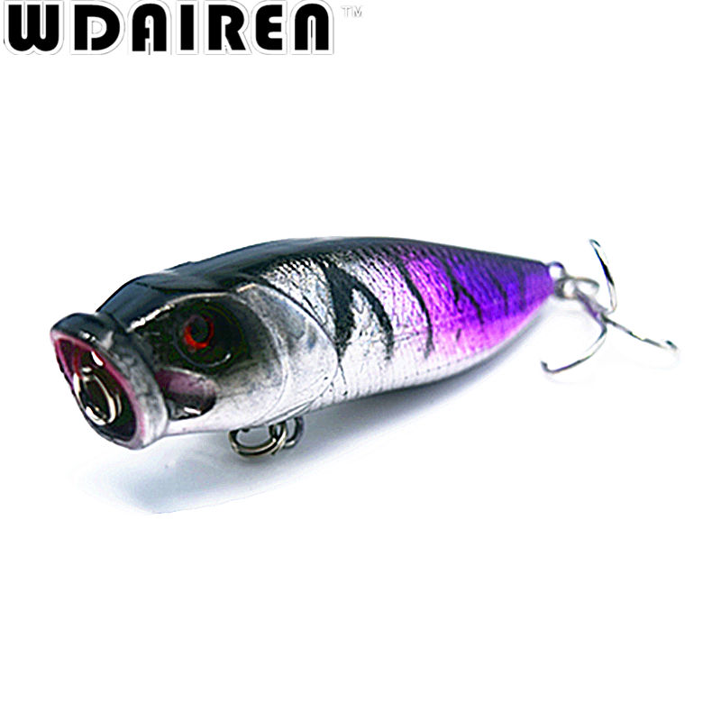 1PCS 6.5.cm 9.2g Popper Fishing Lure Wobbler Hard Bait Treble Hooks Carp Fishing Isca Artificial Fly Fishing Lures Pesca Tackle wldslure 1pc 54g minnow sea fishing crankbait bass hard bait tuna lures wobbler trolling lure treble hook