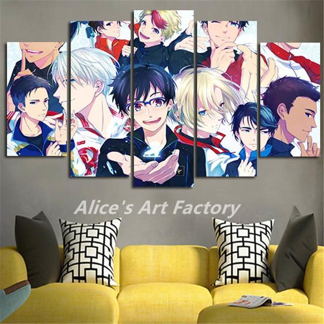 Pice Mur De Toile Photos Catoon Yuri Sur Glace Peinture Anime