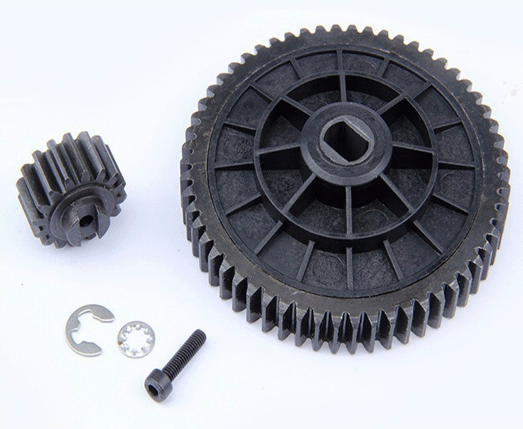 55T / 19T metal high speed gear Kit for 1/5 HPI Rovan Baja 5B 5T 5SC King Motor Buggy rc car gas parts high strength nylon front crash bumper kit fit 1 5 hpi baja 5t rc car parts