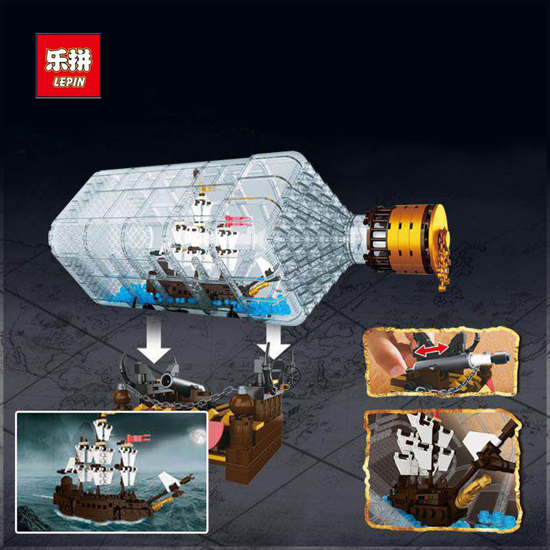 New Lepin 16045 Genuine 775pcs Creative Series The Ship in the Bottle Set Building Blocks Bricks Toy Model as Christmas Boy Gift lepin 16045 genuine 775pcs creative series the ship in the bottle set building blocks bricks toys model gifts