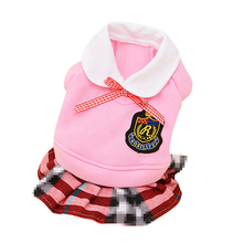 School Style Dog Clothes for Small Dogs
