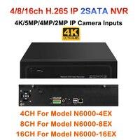 4/8/16 канала H.264/H.265 CCTV NVR max 4 К Выход 4ch 8ch 16ch 5mp/ 3mp/1080 P наблюдения сети Регистраторы для IP Камера ONVIF