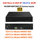 4/8/16 Channel H.264/H.265 CCTV NVR Max 4K Output 4CH 8CH 16CH 5MP/3MP/1080P Surveillance Network Recorder for IP Camera Onvif