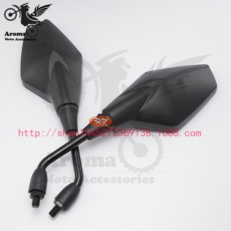 svart 10mm 8mm univeral ATV delar motorcykel backspeglar motocross spegel moto backspegel motorcykel acessorios