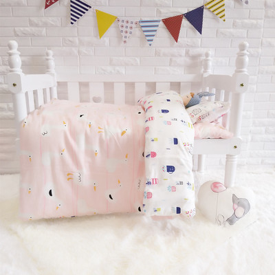 Promotion! 3PCS Cartoon crib bedding set bed linen cotton curtain cot bumper baby setsDuvet Cover/Sheet/Pillow Cover