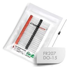 (100 pces) fr207 rápido recuperação retificador diodo 2a 1000 v 150-500ns do-15 (DO-204AC) axial 2 amp 1000 volts fr 207 diodos