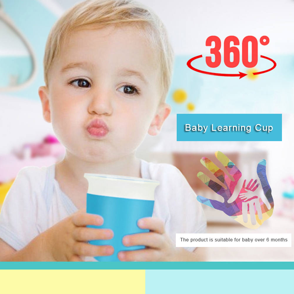 Safety Silicone Children Baby Learn To Drink Cup 360 Degree Leak-Proof Drinking Cup Student Baby Training Cup Magic Cup