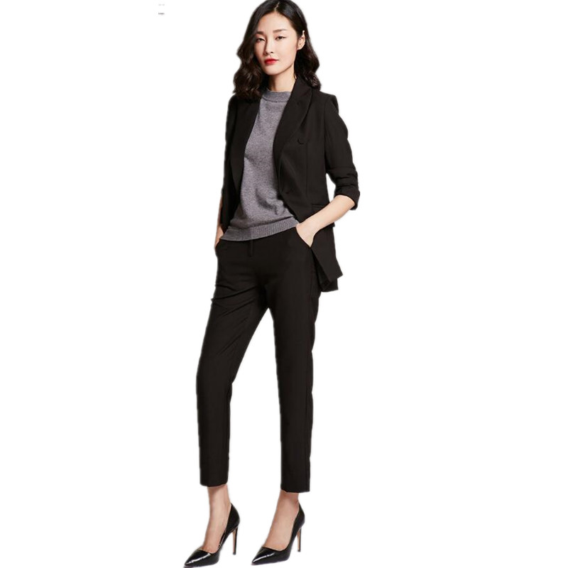 Women Pant Suits Fashion Official Occasion Ol Professional -9141