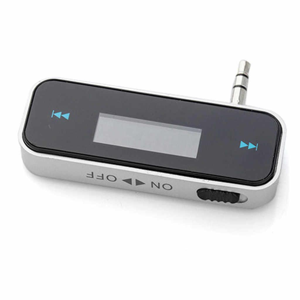 LED عرض تردد صغير 3.5 مللي متر سيارة FM الارسال محول اليد الحرة هاتف محمول الموسيقى الصوت إلى عالية الدقة ستيريو # YL6