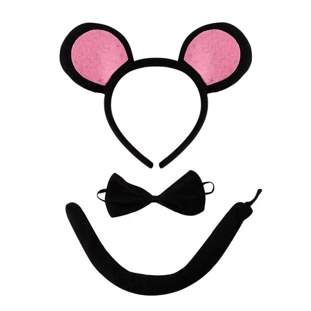 Ragazze Dei Capretti del Costume Della Fascia Set Cat Ear Coda Alice Fascia Partito Hairband Accessori Cosplay Bello Sveglio Dei Bambini Delle Ragazze Copricapi
