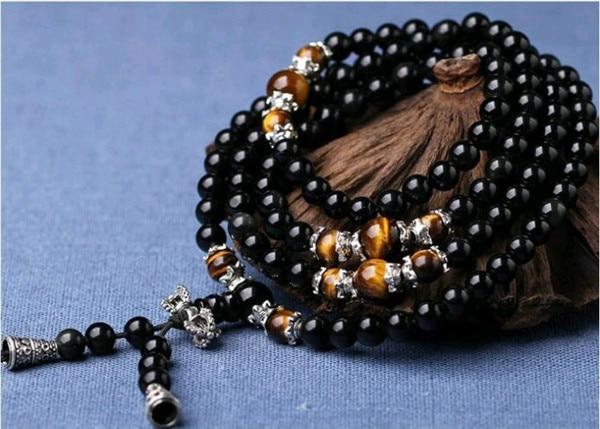 6mm Obsidian Mala Beads 1