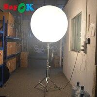 Бесплатная логотип реклама надувные стоять светящийся воздушный шар с Нержавеющаясталь штатив галогенные/RGB огни Дисплей стенд для возду
