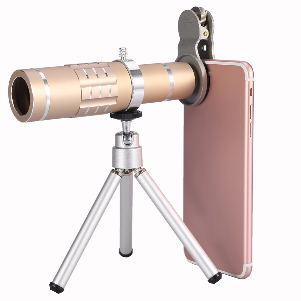 <font><b>Phone</b></font> Camera <font><b>Lens</b></font> Kit Universal 18X Optical <font><b>Zoom</b></font> Telephoto Telescope <font><b>Lens</b></font> with Tripod Black