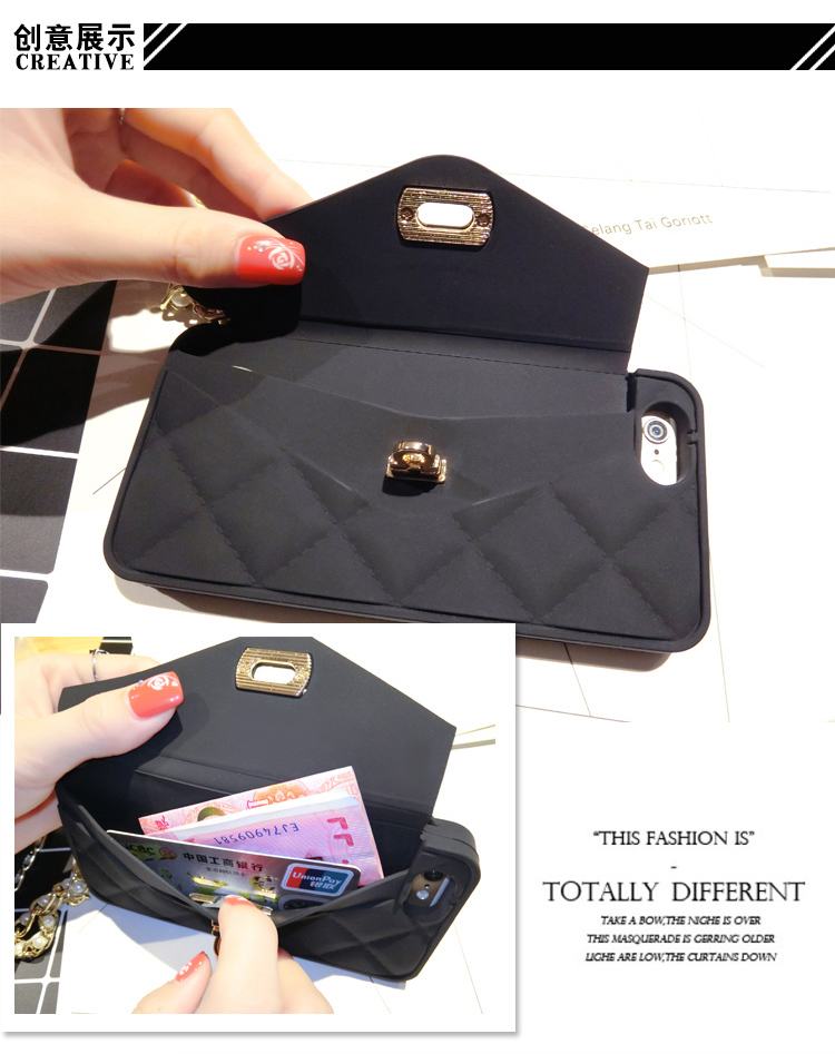 3D Purse Handbag Ponsel Lembut Silicone Kembali Kasus Cover Kulit - Aksesori dan suku cadang ponsel - Foto 6