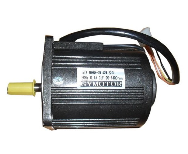 AC 220V 40W Single phase motor, AC Single phase regulated speed motor without gearbox. AC high speed motor,