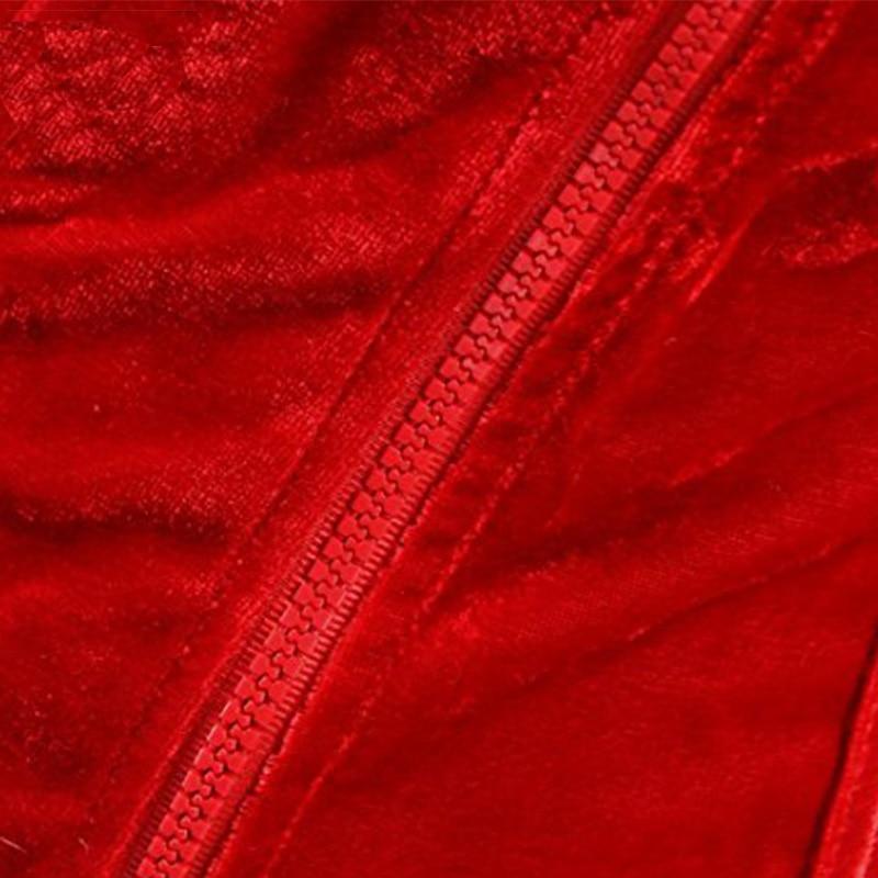 Christmas Corset Costume Women Miss Santa Bustier Top Red Corselet Overbust Corset Halloween Costume Cosplay KorseFor Women (4)