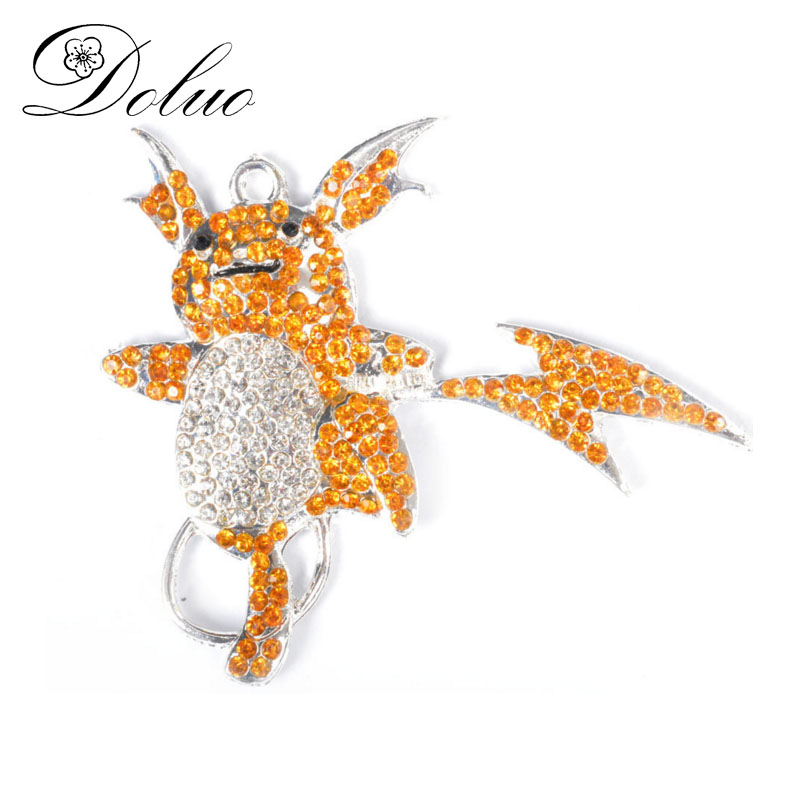 51*59mm Pet Baby Beacon Rhinestone Pendant Key Chain Clothing Necklace Accessories